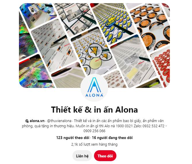 Thiết kế & in ấn Alona